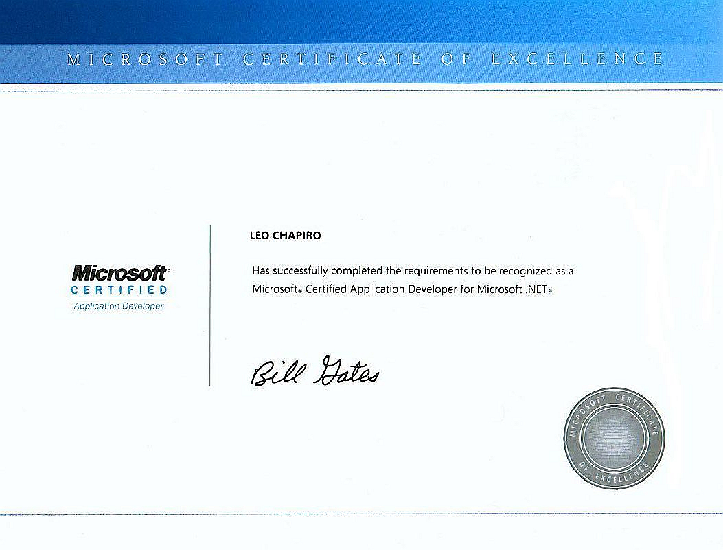 MicrosoftCertifiedProfessional